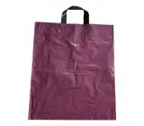 Purple plastic bag with handle 36 x 45 cm
