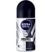 Nivea Men Invisible Black & White Power kuličkový antiperspirant deodorant roll-on pro muže 50 ml