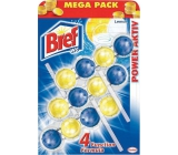 Bref Power Aktiv 4 Formula Lemon Toilet block Mega pack 3x50 g