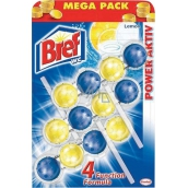 Bref Power Aktiv 4 Formula Lemon WC block Mega pack 3 x 50 g