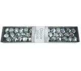 Silver bells in a box 19 x 4 cm
