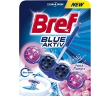 Bref Blue Aktiv Fresh Flowers WC block for hygienic cleanliness and freshness of your toilet, colors the water to a blue shade of 50 g