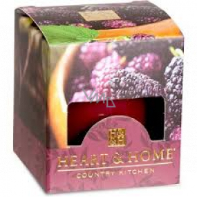 Heart & Home Juicy mulberries Soy scented candle without packaging burns for up to 15 hours 53 g