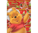 Ditipo Disney Gift paper bag for children L Winnie the Pooh Jingle Joy 26 x 13.5 x 32 cm