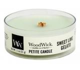 WoodWick Sweet Lime Gelato - Sladká zmrzlina vonná svíčka s dřevěným knotem sklo petite 31 g
