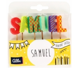 Albi Cake candles name - Samuel, 2.5 cm