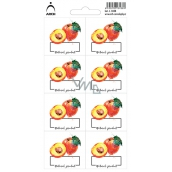 Arch Stickers for canning Peaches Natural product 3438 8 labels