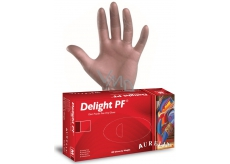 Aurelia Delight PF Disposable Powdered Vinyl Gloves, Colorless, Size XL Box 100 pieces