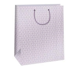 Ditipo Gift paper bag 32.4 x 10.2 x 45.5 cm white, pink ornament QXA