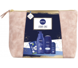 Nivea Creme Care body lotion 400 ml + shower gel 250 ml + antiperspirant roll-on 50 ml + Labello Original lip balm 4.8 g + case, cosmetic set for women