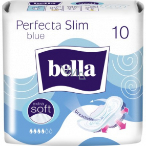 Bella Perfecta Slim Blue ultra-thin sanitary napkins with wings 10 pieces