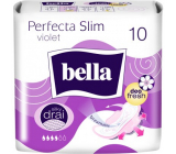 Bella Perfecta Slim Violet ultra-thin sanitary napkins with wings 10 pieces