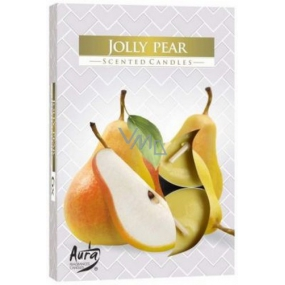 Bispol Aura Jolly Pear - Merry pear scented tealights 6 pieces