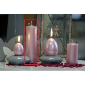 Lima Pastel candle metal light pink cylinder 50 x 170 mm 1 piece