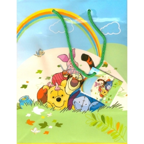 Ditipo Disney Dárková papírová taška dětská L Medvídek Pú s partou 32,5 x 13,5 x 26,3 cm 2902 006