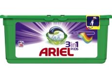 Ariel 3v1 Color gelové kapsle na praní prádla 28 kusů 837,2 g