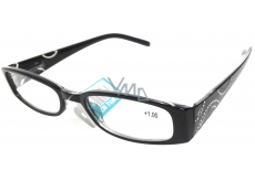 Glasses diop.plast. + 1 black side with stones MC2154