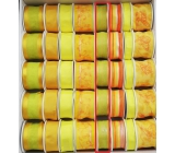 Ditipo Fabric ribbon with wire yellow-green translucent 3 mx 25 mm