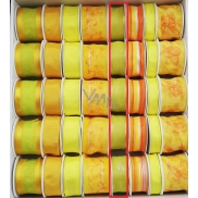 Ditipo Ribbon fabric with wire 3 mx 25 mm yellow green translucent