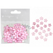 Self-adhesive pink flowers 2 cm 20 pieces