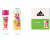 Adidas Get Ready! for Her perfumed deodorant glass for women 75 ml + shower gel 250 ml, cosmetic set