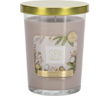 Bispol Spa Collection Japanese garden scented candle glass, burning time up to 38 hours 340 g