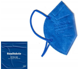 Healfabric Respirator oral protective 5-layer FFP2 face mask dark blue 1 piece
