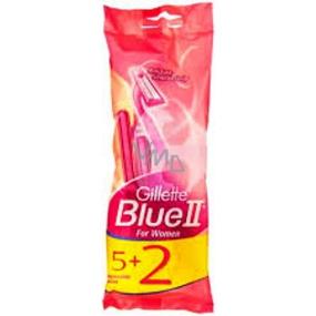 Gillette Lady Blue II Women Jednorázová holítka se zvlhčujícím páskem 5 + 2 kusy
