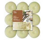 Bolsius Aromatic Tasty Vanilla - Vanilla scented tea candles 18 pieces, burning time 4 hours