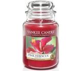 Yankee Candle Pink Hibiscus - Růžový ibišek vonná svíčka Classic velká sklo 623 g