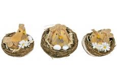 Slepička v hnízdě hnědá 6,5 cm 1 kus