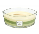 WoodWick Trilogy Garden Oasis - Garden oasis candle with wooden wide knot and lid glass ship 453 g