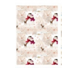 Ditipo packing papers. 2pcs 100x70 children white-beige snowmen