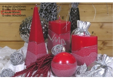 CANDLE BALL 80 Artic Red 4190