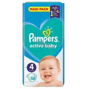 Pampers Active Baby Maxi Pack 4 9-14 kg diapers 58 pieces