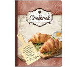 Ditipo Recipe book with cutting board, croissant 17 x 24 cm