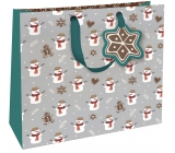 Nekupto Gift paper bag luxury large 33 x 33 cm Christmas WLIL 1790