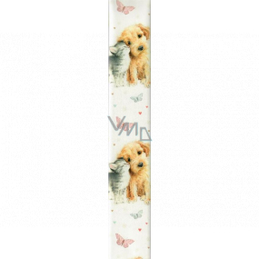 Ditipo Wrapping paper white dog and cat 100 x 70 cm 2 pieces