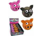 Papillon Latex Face smiling toy for dogs 8 cm different colors