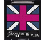 Rimmel London Glam Eyes HD Eyeshadow oční stíny 008 True Union Jack 2,5 g