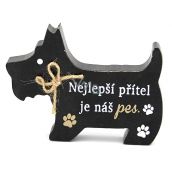 Nekupto Pets Wooden sign The best friend is our dog 12 x 9 x 1.5 cm