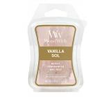 WoodWick Vanilla Sol - Vanilla and sea salt fragrance wax in aromalamp 22.7 g