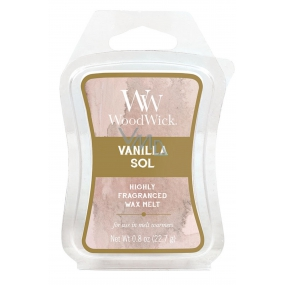 WoodWick Vanilla Sol - Vanilla and sea salt fragrance wax in aromalamp 22.7 g