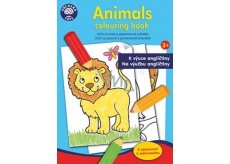 Ditipo Coloring Book Animals to teach English to children 3+ 24 pages