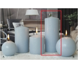 Lima Ice pastel candle light blue cylinder 80 x 200 mm