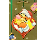 Ditipo Disney Dárková papírová taška pro děti L Tygřík, Oslík, Prasátko 26,4 x 12 x 32,4 cm