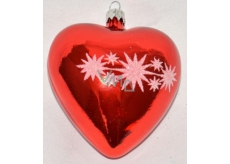 Flame Heart red - white decorated 1pcs 1384