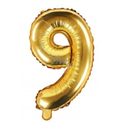 Balloon Inflatable Number 9, 35 cm Foil