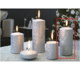 Lima Ice candle silver cylinder 60 x 120 mm 1 piece