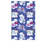 Ditipo Gift wrapping paper 70 x 200 cm Christmas blue polar bears jumping